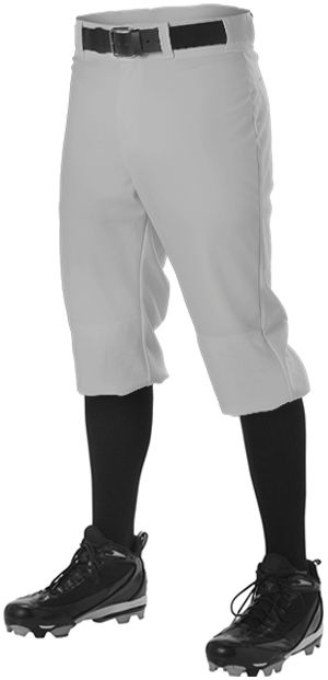 Alleson Men's Knicker Baseball Pant , Gray, M Medium