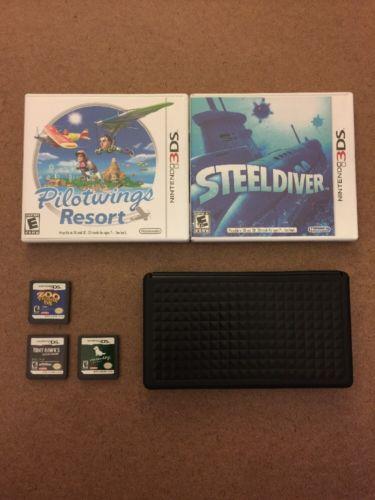 Nintendo DS & 3DS Games & Accessory Lot (Pilotwings, Steeldiver, Tony Hawk, Etc)