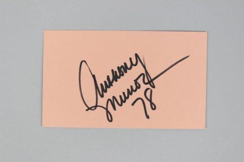 Cincinnati Bengals- Anthony Munoz Signed & Inscribed 3×5 Index Card – COA JSA