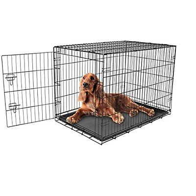Carlson Secure Crates Kennels and Compact Single Door Metal Dog Crate,