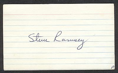 Steve Ramsey Signed Index Card NFL QB Saints Broncos 1970-1976 died-1994 COA