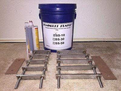 Stainless Staple™ 10ft Concrete Swimming Pool Crack Repair Kit SS-10