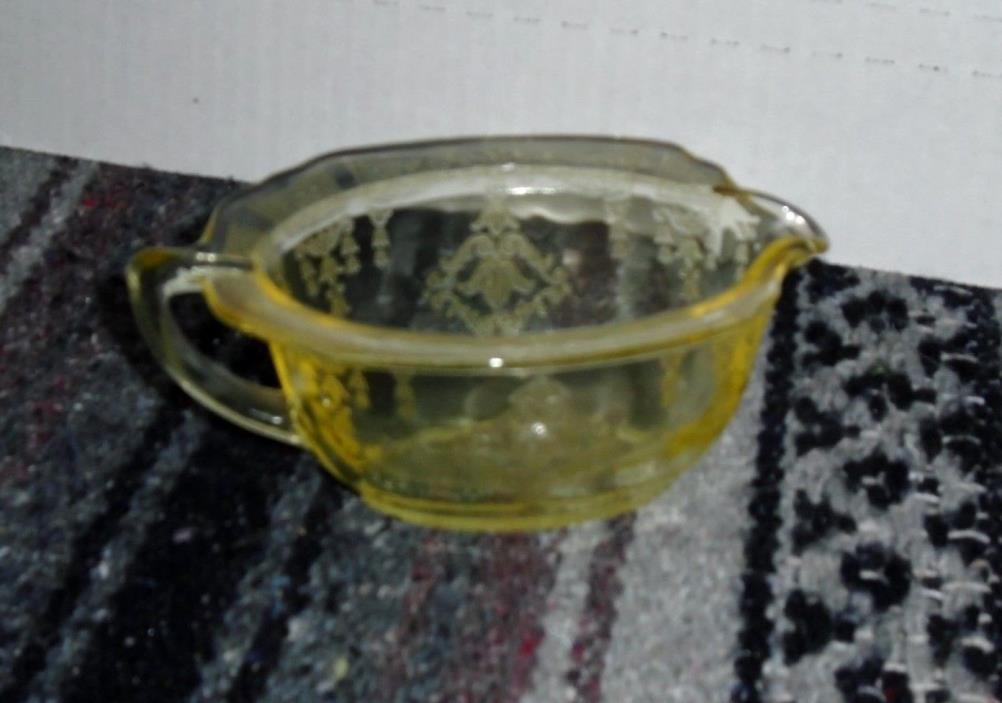 VINTAGE YELLOW VASELINE GLASS
