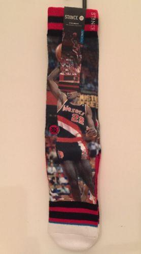 Original Stance NBA Legends Portland Trail Blazers Clyde Drexler Socks 100% Auth