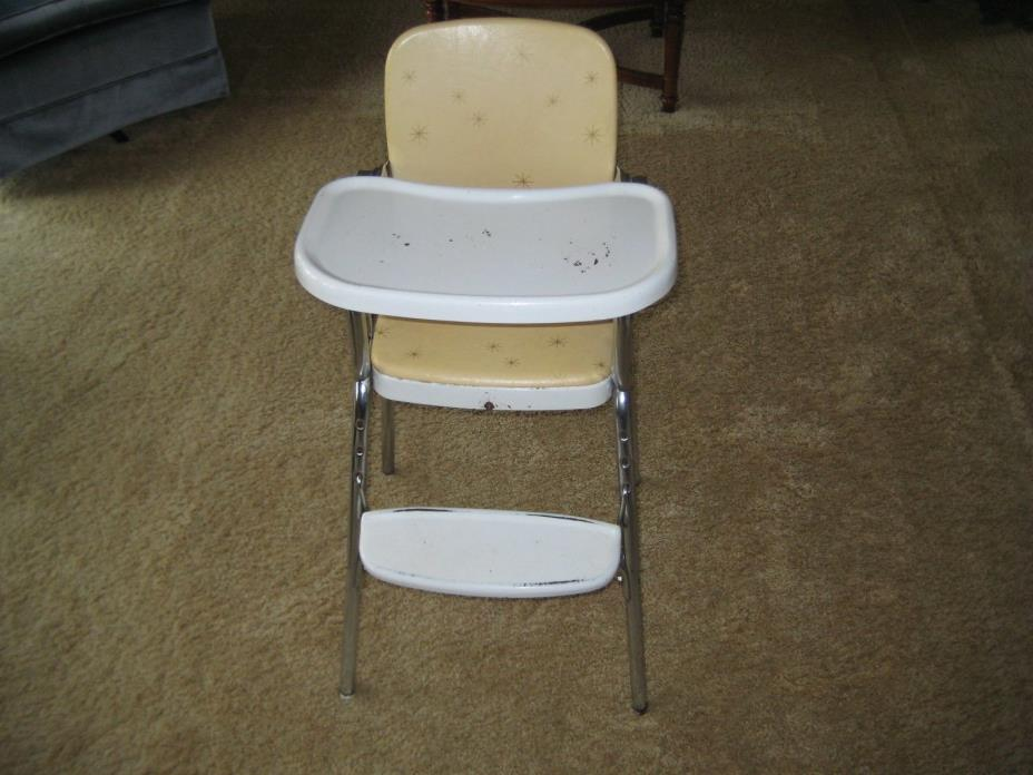 Metal Vintage Cosco Baby High Chair From The 1950's