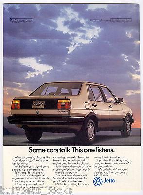 1989 Volkswagen JETTA advertisement, Volkswagen Jetta sedan