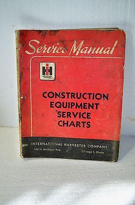 Vintage International Harvester construction equipment red service charts Manual