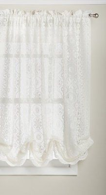 Hopewell Lace Window Shade 58-Inch by 63-Inch Cream 100% Polyester