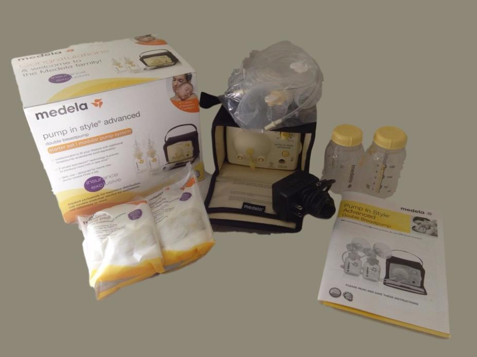 NEW Medela Pump-In-Style Advanced Breastpump Starter Set Double Feeding Baby