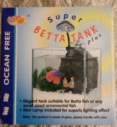 Ocean Free Glass Super Betta Tank with light.