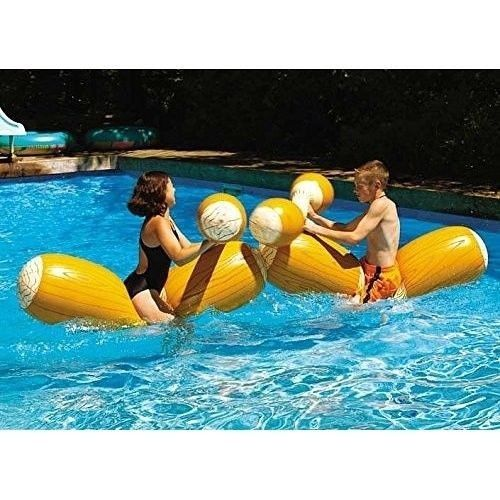 Log Flume Joust Set Action Inflatable for Swimming Pools Kids Fun Pool Set of 2