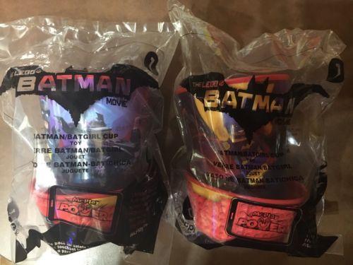 2017 McDonald's Happy Meal Toy The Lego Batman Movie #1 Batman Batgirl Cup New