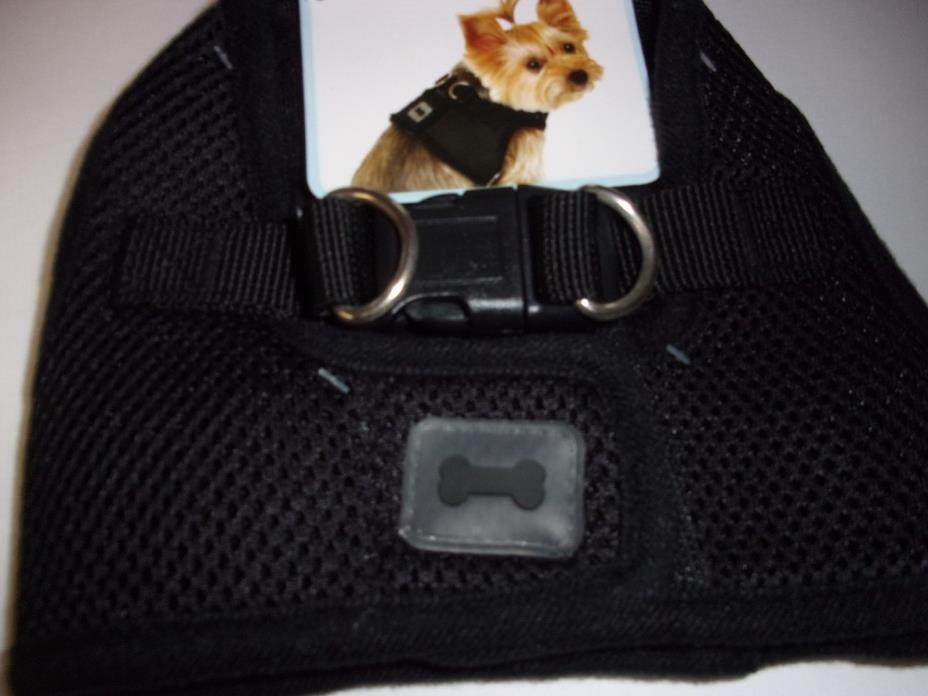Black Body Harness Vest XS S Pet Dog new no choke free Simply Wag step-in xsmall