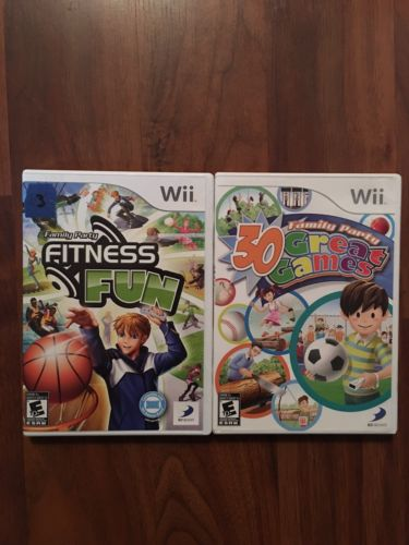 Lot Of 2 Nintendo Wii Family Party Games: 30 Great Games & Fitness Fun