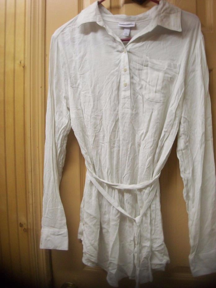 Liz Lange Maternity Long Sleeve Cream top Ivory button blouse Pregnancy XS-L