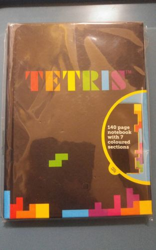 Tetris Notebook Video Game Note Book Write Gamer Fun Gift Colored Shaped Pages