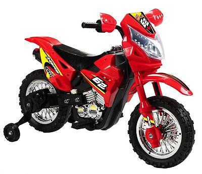 Kids Dirt Bike Motorcycle Ride On Toy Electric Power Training Wheels With Light