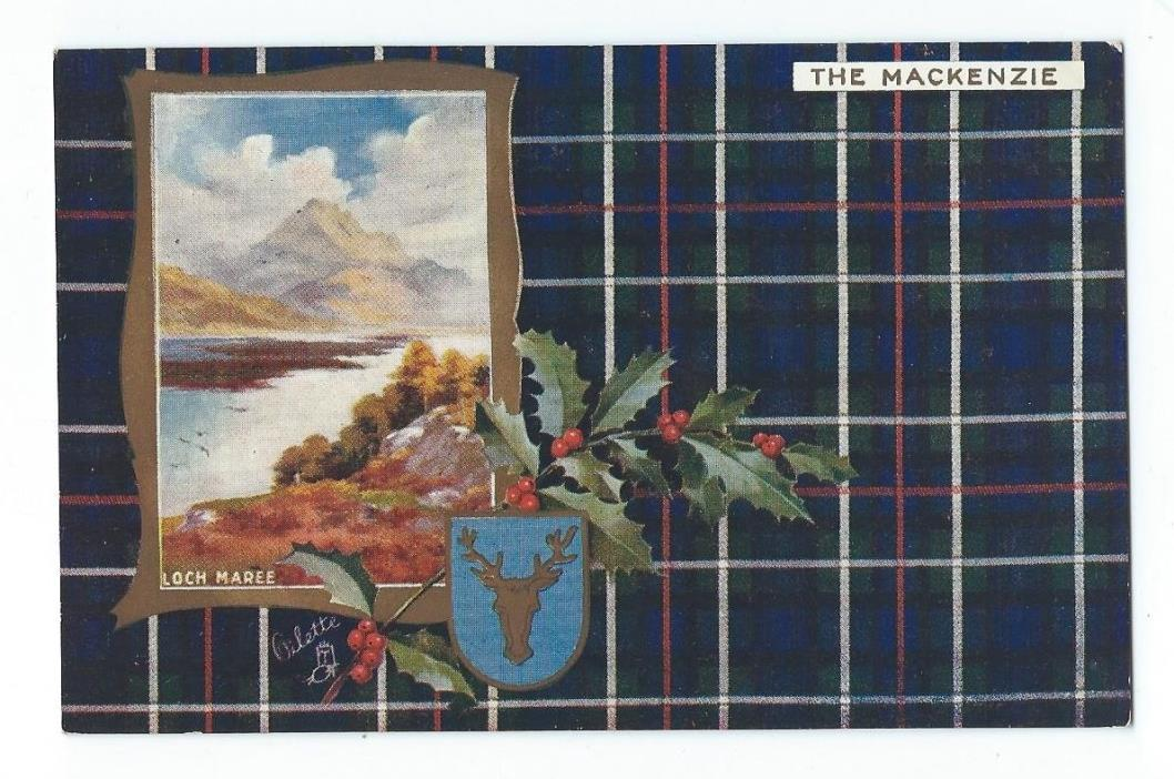 Vintage Postcard Tuck's Scottish Clans - The Mackenzie