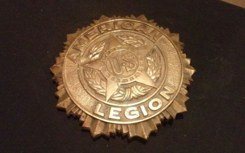 VINTAGE BRONZE CRAFT CORP. AMERICAN US LEGION CEMETERY MEMORIAL MARKER