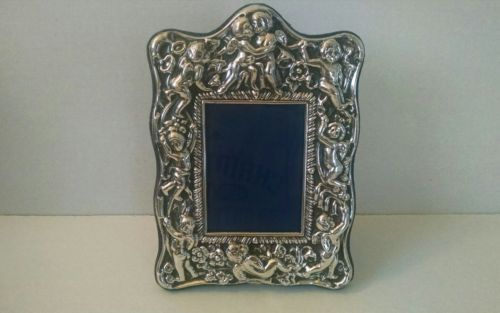 Vintage Carrs of Sheffield England Silver Plated Picture Frame Ornate Cherub?s