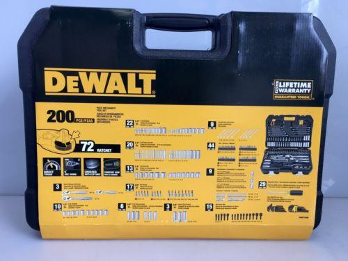 DeWalt 200 Piece Mechanics Tool Set Sockets Wrenches Screwdriver DWMT75000