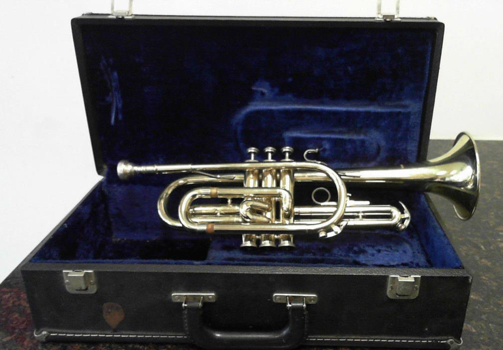 Vintage Trumpet Made in Elkhart Indiana w/ Hard Case & Mouthpiece