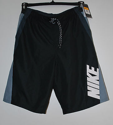 New Nike Swin Trunks S Shorts Sheads Water  Black/Gray NWT $58