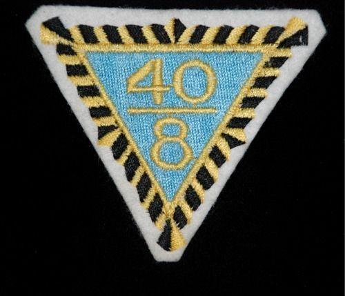 "U.S. Veteran Organization 40/8 Felt Patch – 3"" Forty and Eight - Vintage"