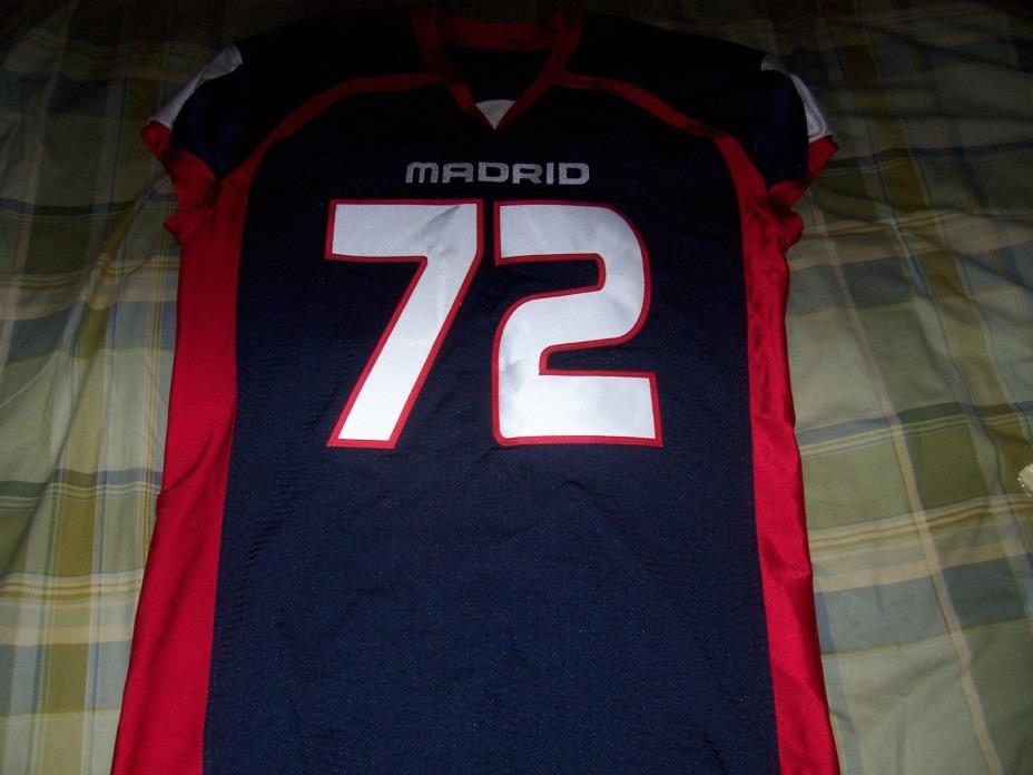 MADRID PRO CUT SEWN GAME ISSUED FOOTBALL JERSEY NFL COLLEGE QUALITY used worn