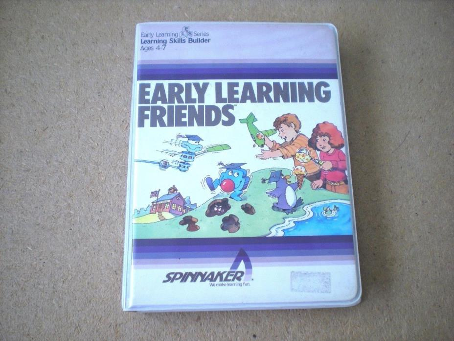Early Learning Friends Children's Game Commodore 64 Floppy Disk with Manual 1984