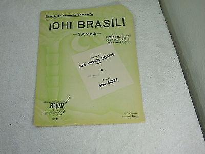 Repertorio Brasileno Fermata !OH! BRASIL! Samba ~ Musica De Jose Antonino Orland