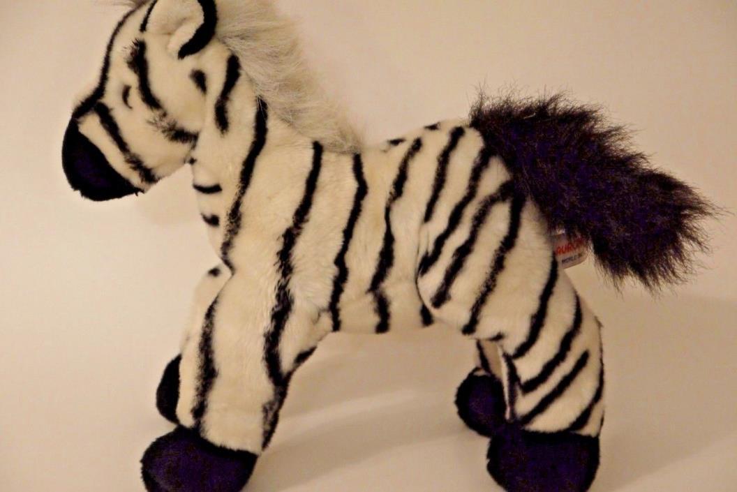 Aurora Zebra~Stuffed Animal Plush~Striped Black White~Horse~Wild Zoo Safari