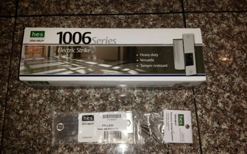 hes 1006 electric strike:1006-12/24 w/ R-630 Option Plate