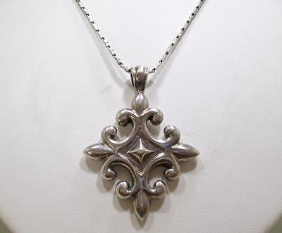 AUTHENTIC BARSE LARGE SOLID STERLING SILVER CROSS PENDANT ENHANCER