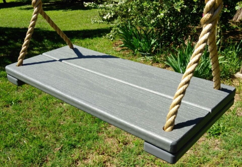 Wood Tree Swing- Composite Material- Gray- NEW ITEM!