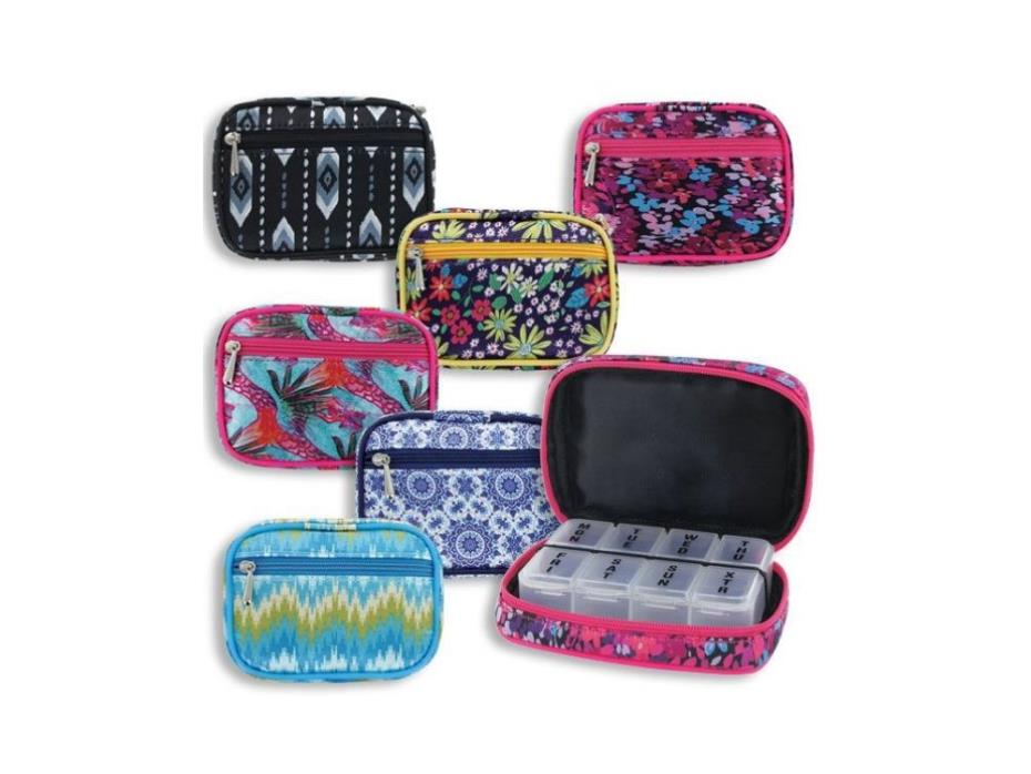 Women's 8 Compartment Pill & Vitamin Case ~ Great Gift Idea For Her!