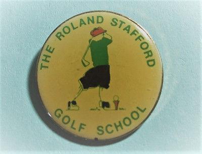 Old Roland Stafford Golf School Lapel ,Logo Pin