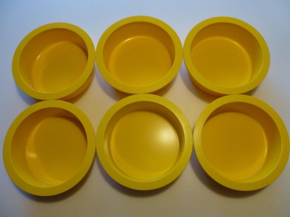 6 Yellow Dansk Cereal Stackable Bowls Plastic Melmac Melamine Gunnar Cyren set