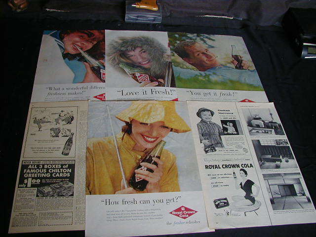 lot of 22 R.C.Cola magazine ads 1946 to 1965 royal crown cola ad make save money