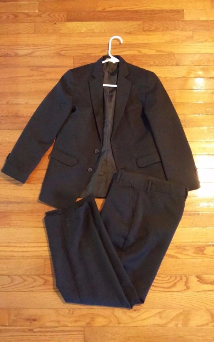 Boys dress suit size 12 dockers black jacket and pants 2 button 2674