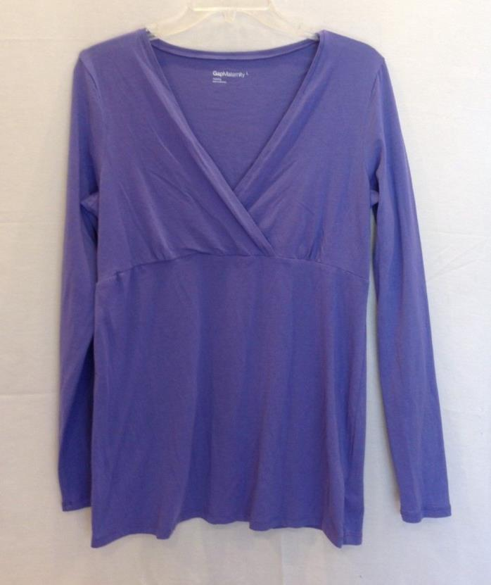 Gap Maternity sz Large Purple long sleeve Blouse