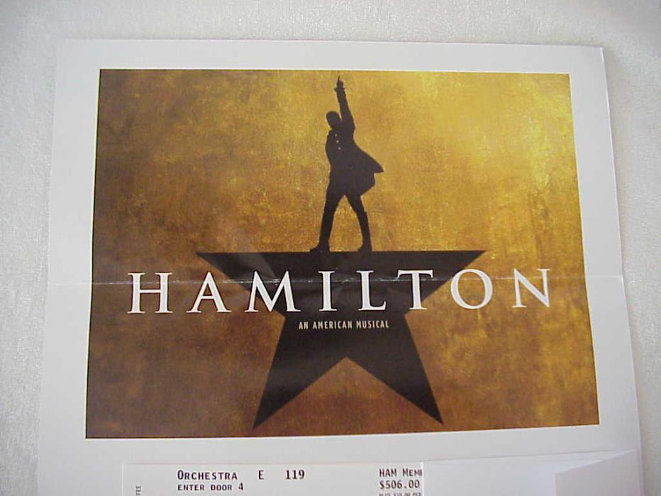 Hamilton San Francisco 2 Orchestra Row E 119, 121 Tickets Saturday May 20th 8 PM