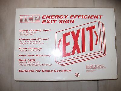 TCP Energy Efficient EXIT SIGN - double  faced