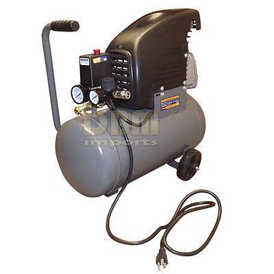 Horizontal 6 GAL Gallon Air Compressor Tank Wheels Oil Luped 2 HP Motor 115 PSI