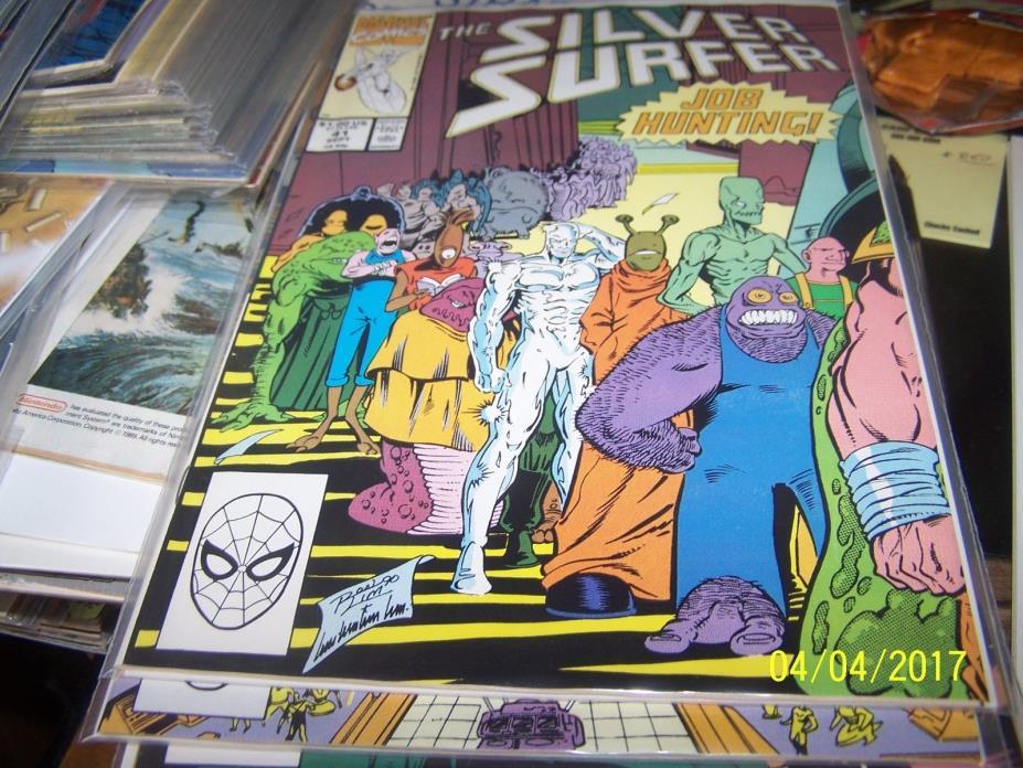 Silver Surfer comic  # 41 (Sep 1990, Marvel) job hunting