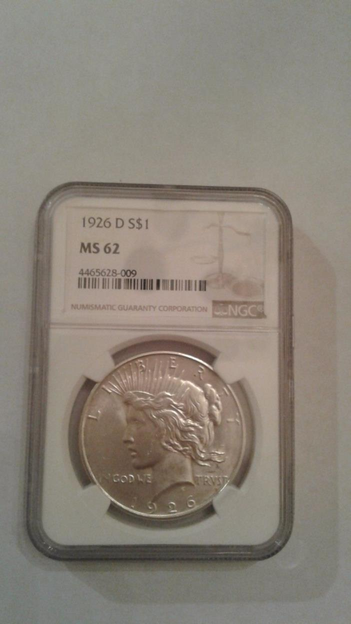 1926-D Peace Dollar MS-62 NGC