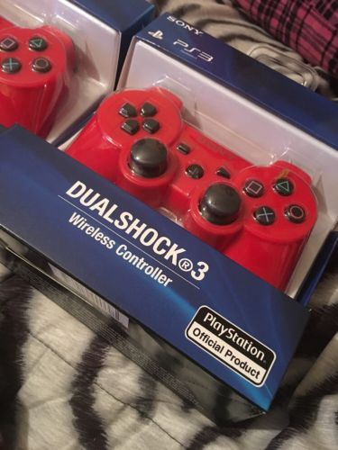 BRAND NEW Sony PlayStation 3 PS3 SixAxis Wireless RED Controller