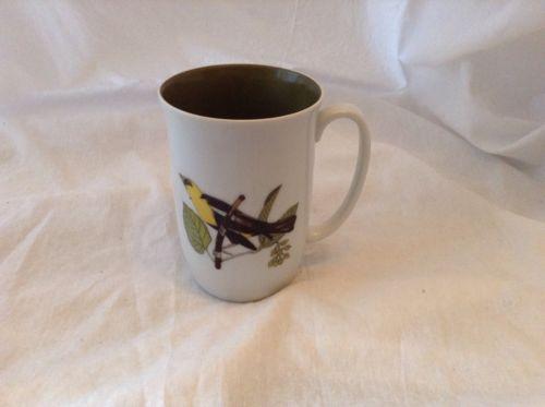 Fitz and Floyd Neiman Marcus Yellow Wild Bird Coffee Mug Tea Cup
