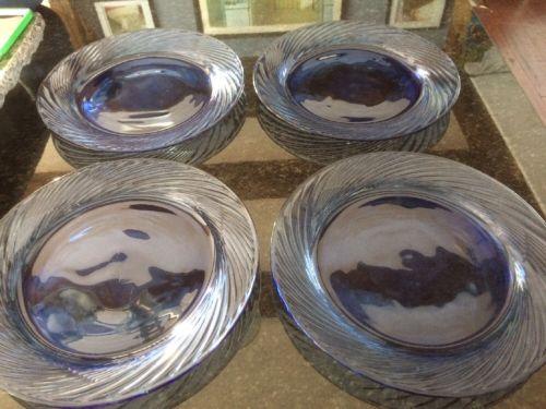 (4) Cobalt Blue Pyrex Festiva10-1/2