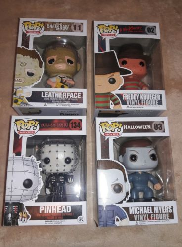 Funko Pop Horror Movies lot! Freddy, Michael Myers, Leatherface, Pinhead! New!